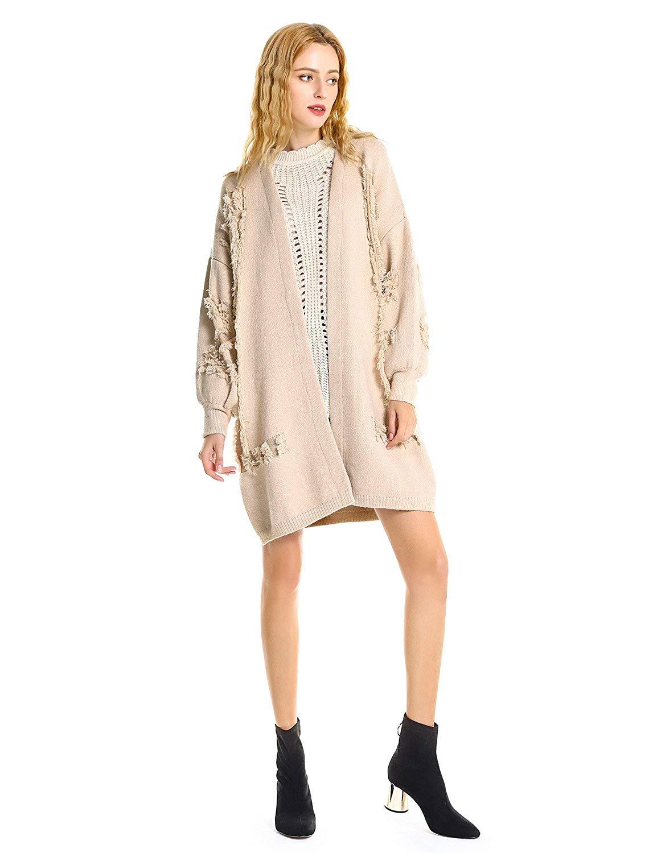ZAN.STYLE Women Warm Heavy Knit Oversized Long Chunky Cardigan Sweater Coat
