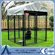 20105 Direct factory galvanized steel wire mesh fencing dog kennel, cheap chain link dog kennel