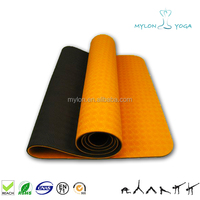 factory eco friendly non slip waterproof material custom print private label tpe yoga mat