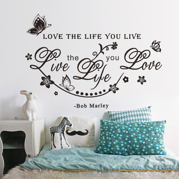 3dwall decals custom vinyl stickers quotes love the life you live