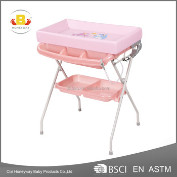 Best Price Plastic Portable Folding Hot Ing Baby Changing Table With Bath Tub