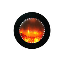 Best selling different types round electric fireplace with good offer