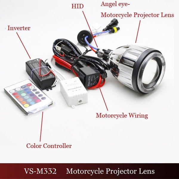 Vision Vs-m332 Hid Bi-xenon Projector Lens Motorcycle Led Bi Xenon ...