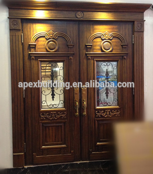 Solid Wood U0026 Oil Painted Main Double Door Design Wooden Door For Villa U0026  House,