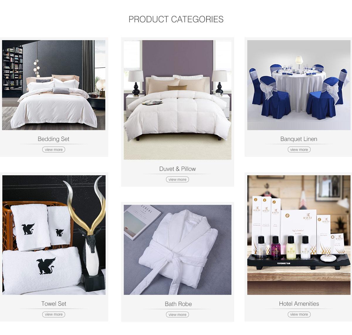 Guangdong Townzi Hotel Linen Supplies Co., Ltd. - Guestroom Linen ...