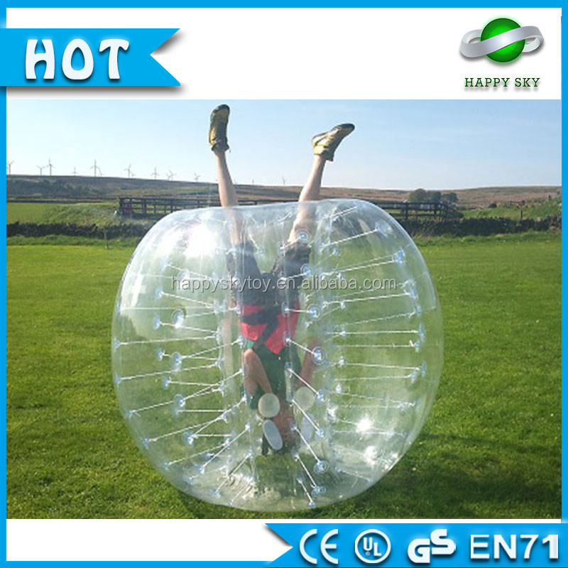0.8mm ClassA 100%TPU kids 1.5mDia inflatable <strong>human</strong> sized bubble soccer suit ball for sale