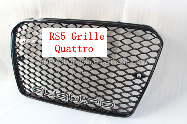 for audi RS5 style Sport Mesh Chrome Front Grille for A5 RS5 SFG 8T RS5 2013