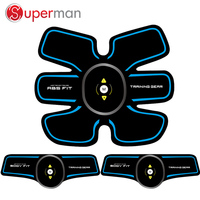 New design Black ABS electronic muscle stimulator muscle training ems electrode pads