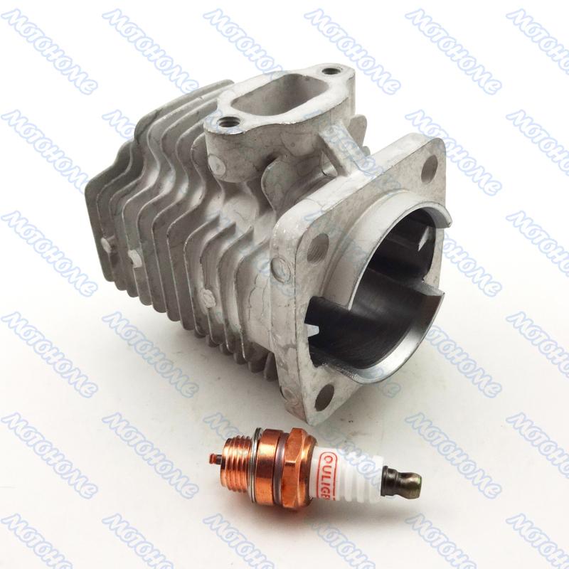44mm cylinder + Spark Plug for 49cc 2 stroke Engine Mini Quad ATV Mini Dirt  Pocket Bike