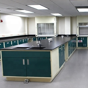 Laboratory furniture/ chemical lab peninsula bench student bench for with epoxy resin top