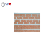 New type wall pu panel exterior Insulated decorative color steel brick wall board with customizable color and size