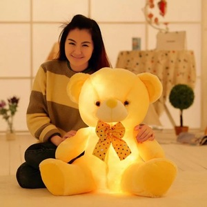 2018 New Hot Soft Cute Plush Flashing Teddy Bear Doll Toys With Led Light Luminous Glowing Stuffed Bear Toys Kids Gift