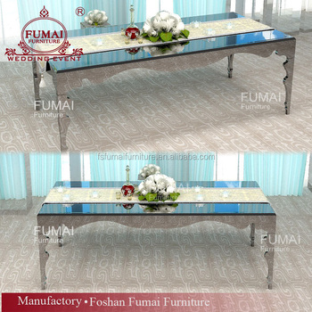 10 Seater Mirror Glass Top Modern Banquet Dining Table Set Buy