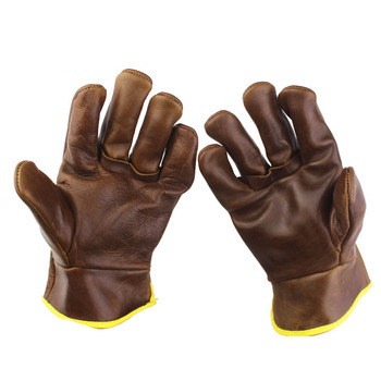 Leather Garden Safety Gloves Wear-resistant soft garden gloves