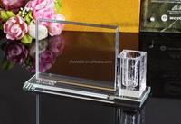 crystal office stationery set pen holder, photo frame crystal gift MH-LP0145