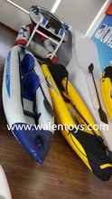 L-PVC Inflatable Kayak,inflatable fishing canoe with Paddles,carry bag and Foot Pump