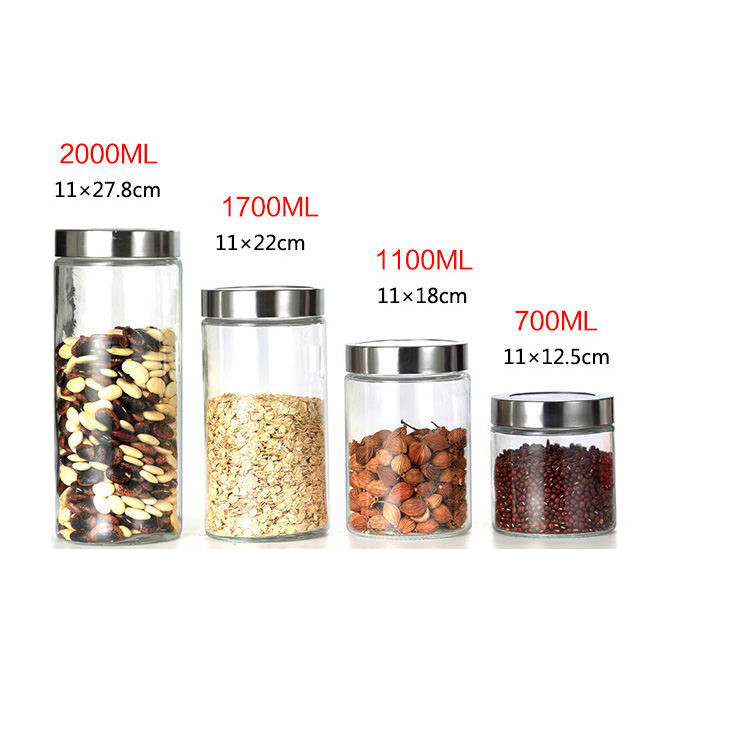 500ML airtight glass jars food container / glass jar lucid storage with sealing top lid
