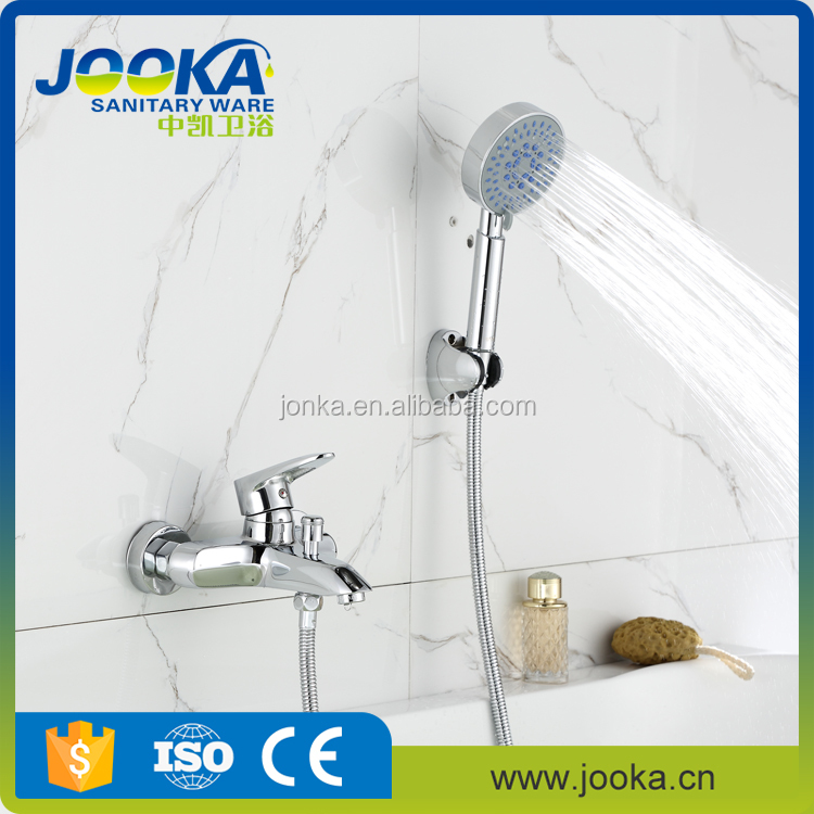 Bath faucet mixer tap with hand shower head set used bathroom shower faucet