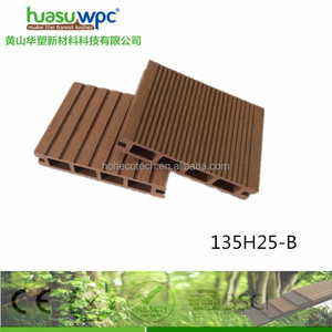 Promotion price hollow composite decking board for balcony waterproof wpc terrace decking