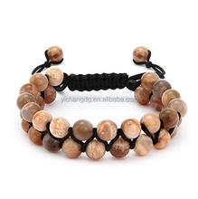 Stainless Steel Spiritual Bead Bracelet, Fashion Jewelry Rose Gold Bracelet