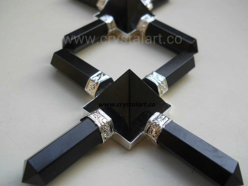 BLACK AGATE PYRAMID ENERGY GENERATOR TOOLS