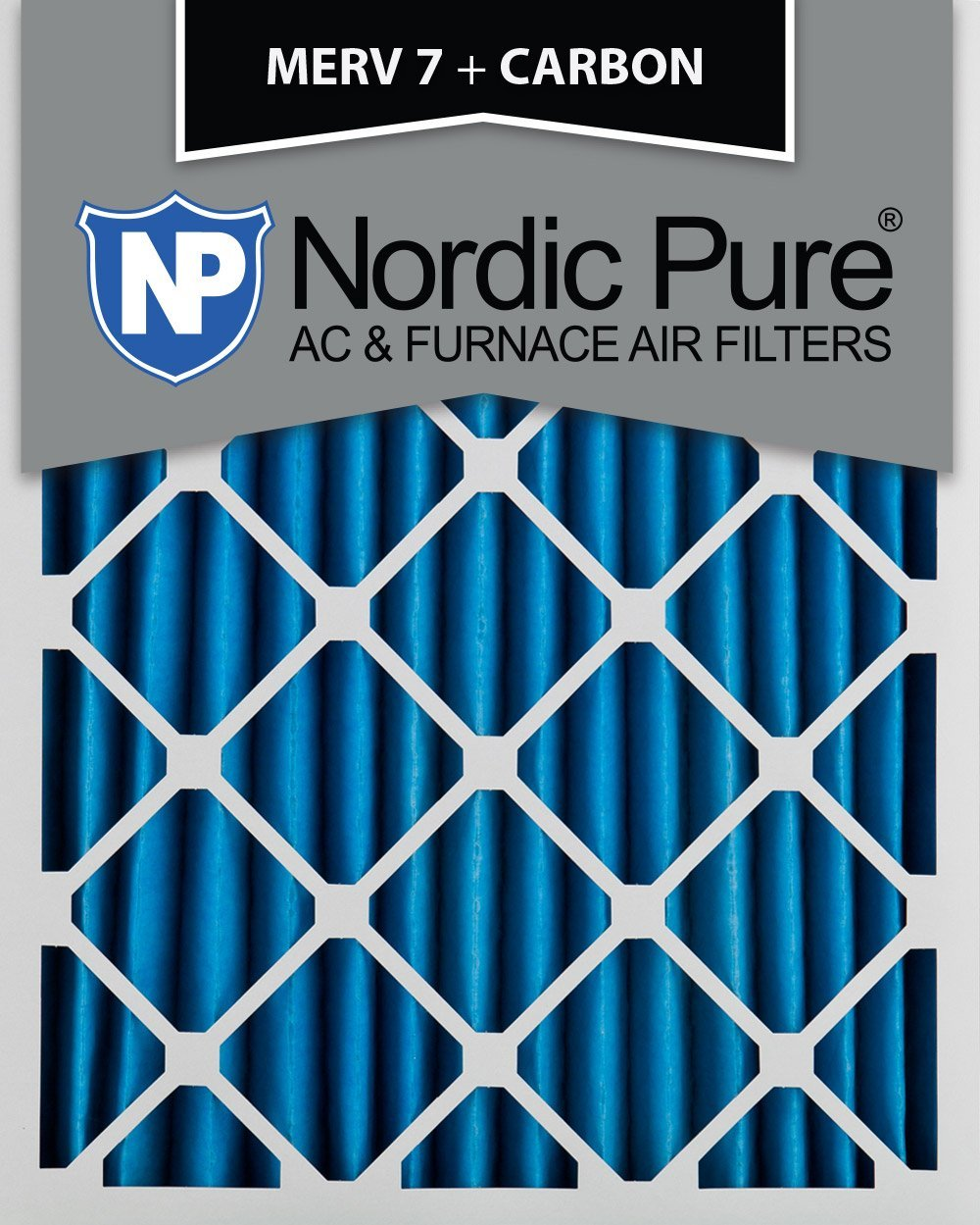 2 PACK Nordic Pure 18x24x1 MERV 10 Pleated AC Furnace Air Filters 2 Piece