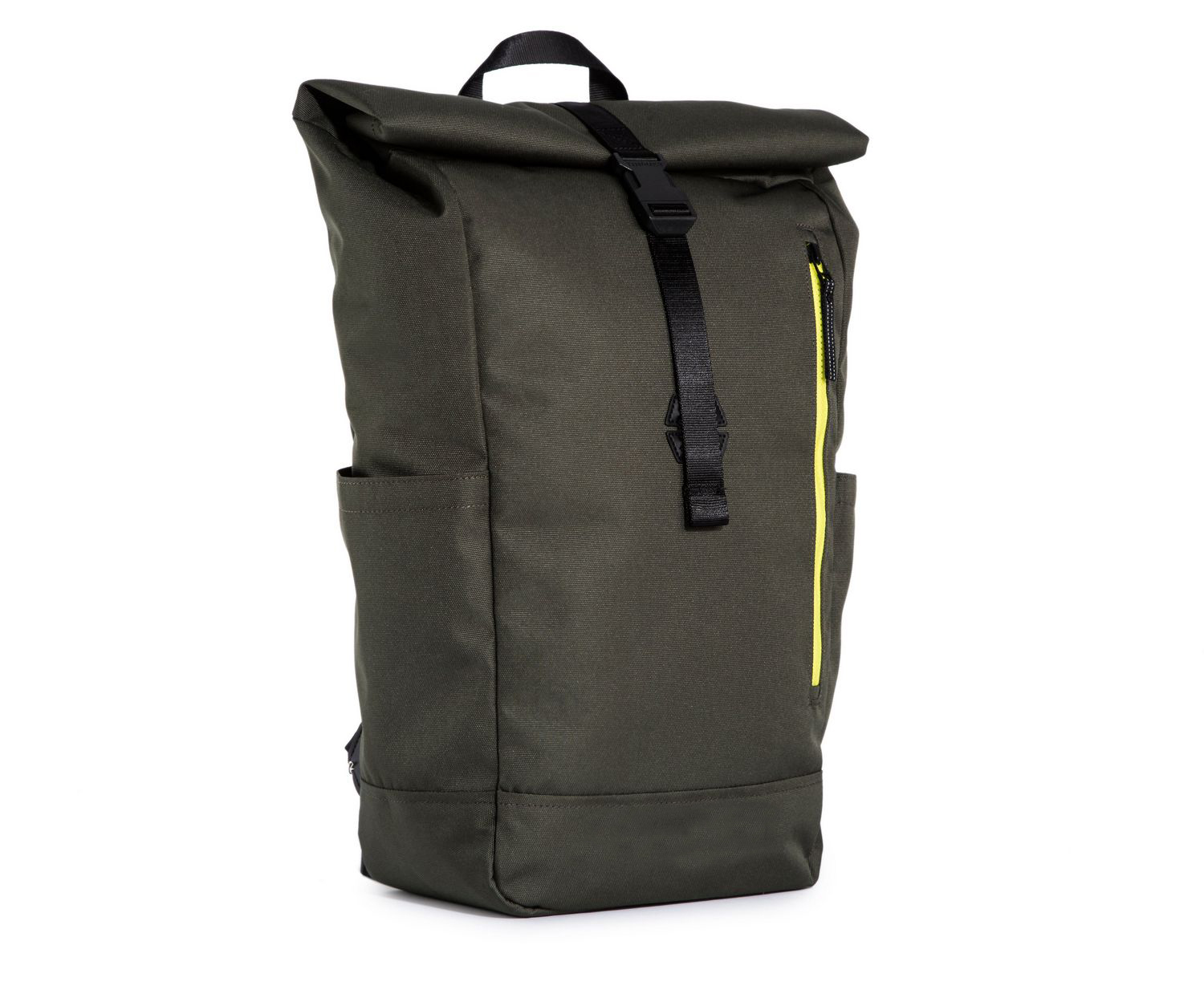 Polyester Canvas Fabric 15 inch Laptop Bag Waterproof Roll Top Backpack