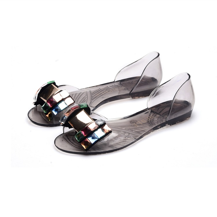 Mini HeLiSha transparent sandals for women and ladies 2019 fashion bow jelly slides footwear
