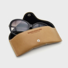 High quality thick PU Leather branded hard Luxury Sun Glasses Case