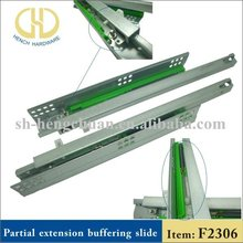 Two-fold concealed soft closing slide rails supplier