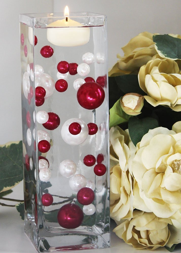Buy Easy Elegance By Jellybeadz Brand Red And White Pearl Beads
