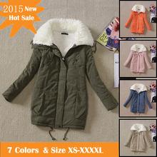 2013 new women's Medium-large cotton-padded jacket parkas for winter