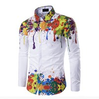 cy30860a Autumn new design printed shirt casual full sleeve shirt for man