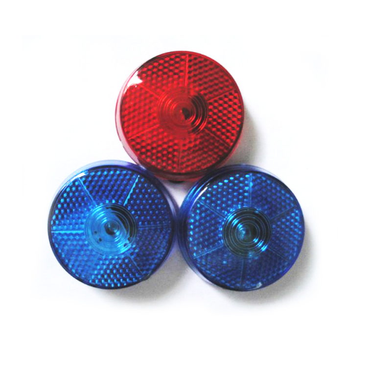 Promotional flashing bicycle round safety light