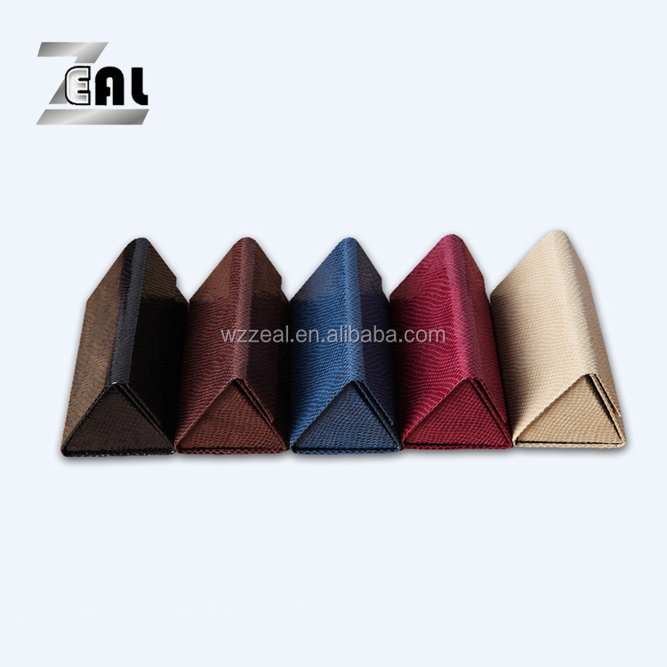 Best sale high quality folding sunglasses case , handmade triangle eyewear glasses case , wallet style PU case