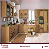 Timber modular partition furniture small kitchen cupboard design