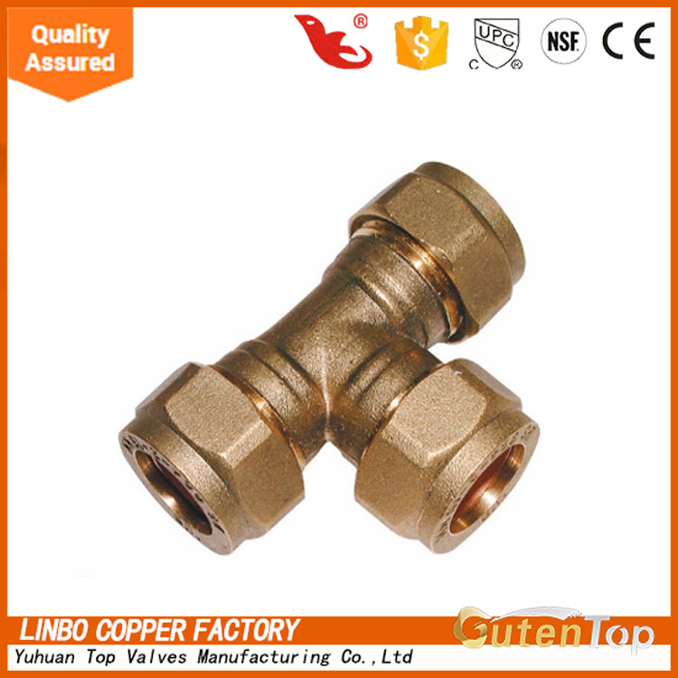 LB-Gutentop Top Quality Water Brass Compression <strong>Fitting</strong> For Copper Pipe