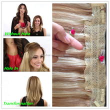 New recommended lace net hair extensions online sale 27/613 color fishing line hair extension