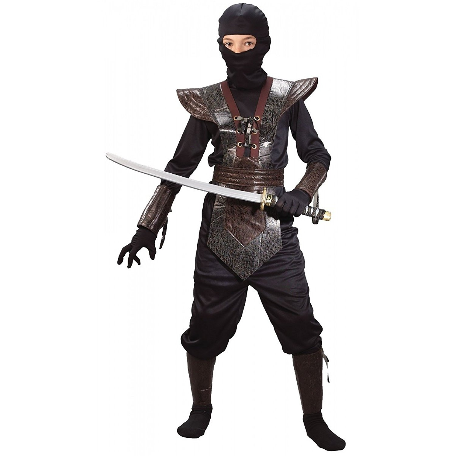 Leather Ninja Fighter Costume (Boy's Children's Costume)