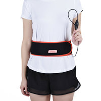 Far infrared physical therapy reusable carbon fiber heating waist belt