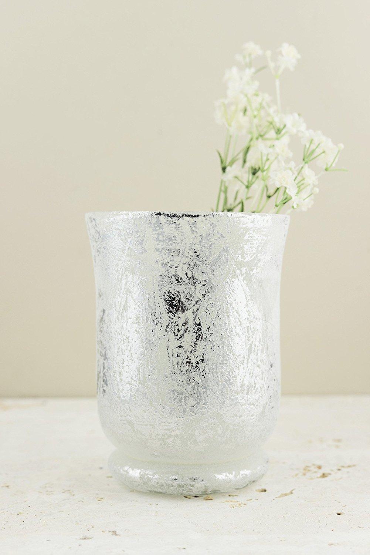 Cheap large glass hurricane vase find large glass hurricane vase art glass frosted mercury glass hurricane vase candleholder 6 inches reviewsmspy