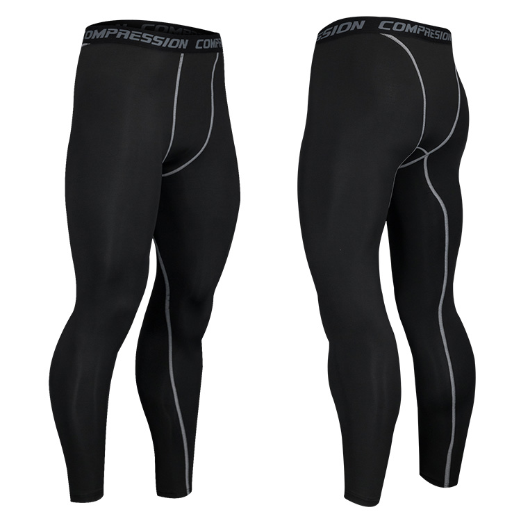 Wholesale High Elastic Compression Base Layer Under Pants Wicking Sports Running Gym Leggings for Men, Customized colors