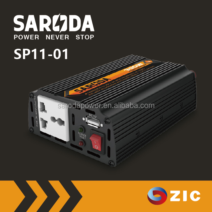 SARODA 300W Modified Sine Wave 12V Solar DC to AC Power small Inverter