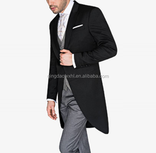 OEM Service Supply Type en <span class=keywords><strong>Mannen</strong></span> Gender Zwarte Wol Tailcoat Tuxedos <span class=keywords><strong>Pak</strong></span>