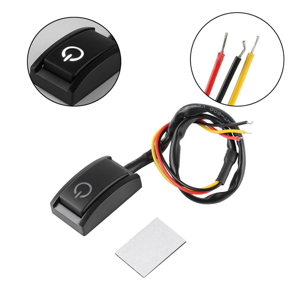 CALAP STORE - 1 Pcs Car DIY Switch Paste Type Button Switch OFF/ON DC 12V/200mA Car Push Button Latching Switch