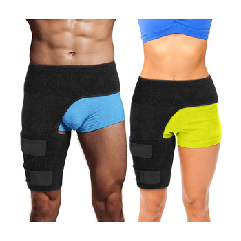 Adjustable Breathable Pain Relief Neoprene Sports Thigh Compression Sleeve Hip Brace