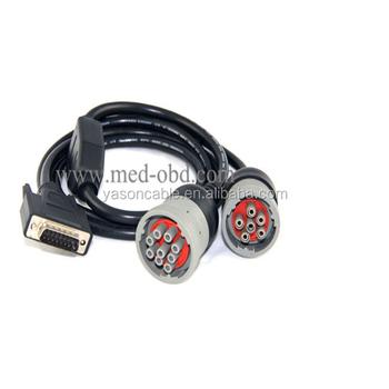 Sae J1939/j1708 Car Diagnostic Cable,9 Pin Male 15 Pin Male Adapter - Buy  J1708,J1939,Car Diagnostic Cable Product on Alibaba com
