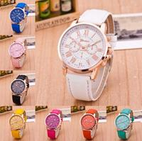 China Cheap Price Wholesale Geneva Women/Man Watch Leather Watch