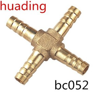 "brass cross connector ,four way brass 1/4"" 3/8"" 1/2"" 3/4"" high casting cross -type connector ,hose bard 6 8 10 12 14 16 18 mm"