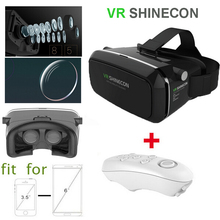2016 SHINECON Plastic Version Virtual Reality 3D Smart Glasses Google cardboard HD VR Glasses + Bluetooth Wireless Mouse gamepad